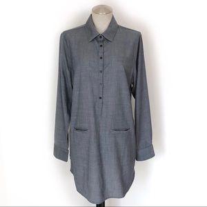 Icebreaker Tunic Gray Merino Wool Size M